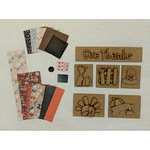 Foundations Decor - Thanksgiving Shadow Box Kit with Paper