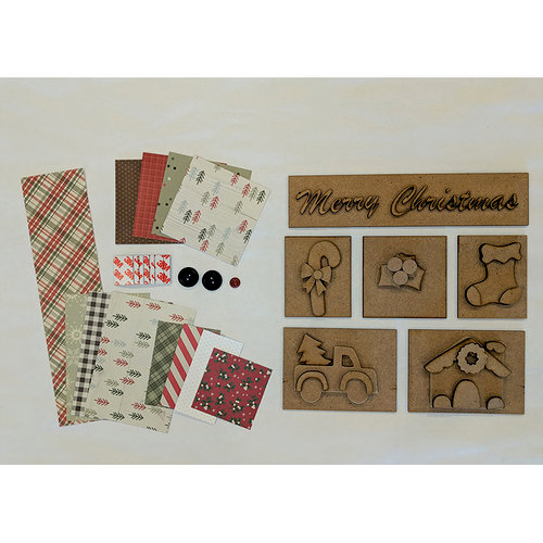 Foundations Decor - Christmas Kit with Paper for Shadow Box