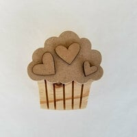Foundations Decor - Valentines Collection - Wood Crafts - Cupcake