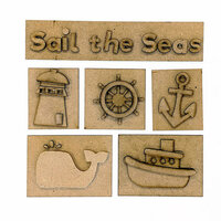 Foundations Decor - Sail the Seas Kit for Shadow Box