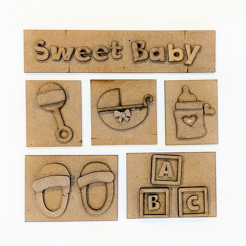 Foundations Decor - Sweet Baby Kit for Shadow Box