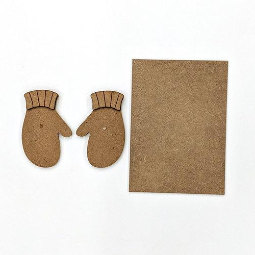Foundations Decor - Wood Crafts - Mittens Kit for Welcome Slat Sign