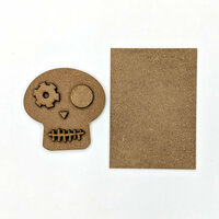Foundations Decor - Halloween - Wood Crafts - Skull Kit for Welcome Slat Sign
