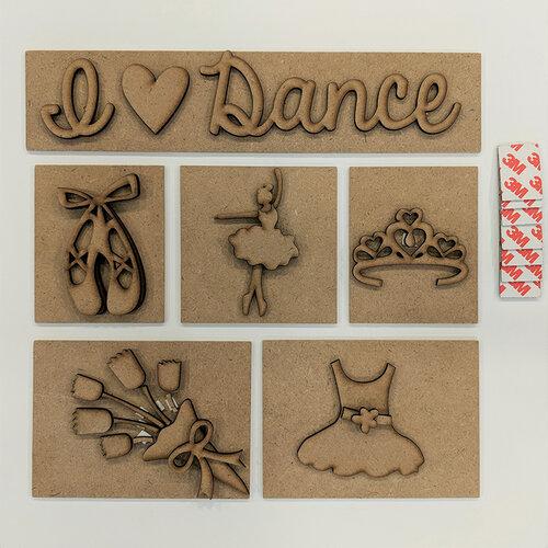 Foundations Decor - I Love Dance Kit for Shadow Box