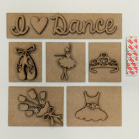 Foundations Decor - I Love Dance Kit for Shadow Box