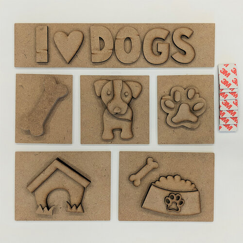 Foundations Decor - I Love Dogs Kit for Shadow Box