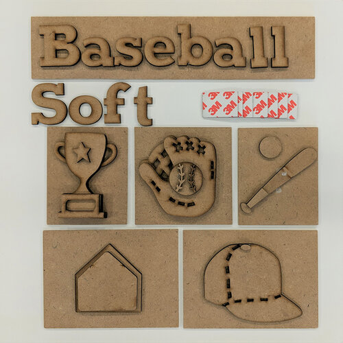 Foundations Decor - Baseball Kit for Shadow Box