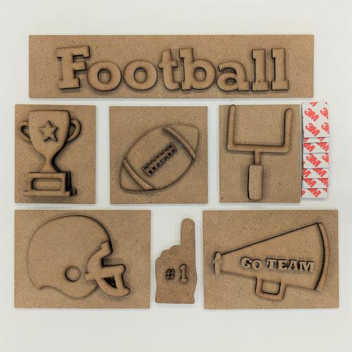 Foundations Decor - Football Kit for Shadow Box