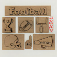 Foundations Decor - Football Kit for Shadow Box