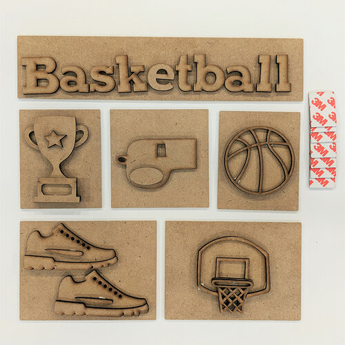 Foundations Decor - Basketball Kit for Shadow box