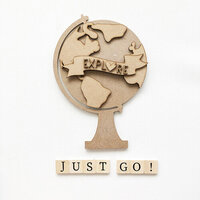 Foundations Decor - Everyday Collection - Wood Crafts - Explore Globe