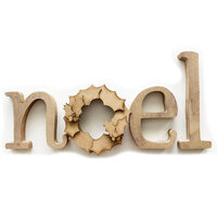 Foundations Decor - Christmas - Holidays Collection - Wood Crafts - Noel with Wreath