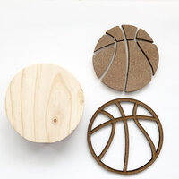Foundations Decor - Interchangeable O for Welcome Wood Blocks - Basketball