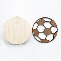Foundations Decor - Interchangeable O for Welcome Wood Blocks - Soccer Ball