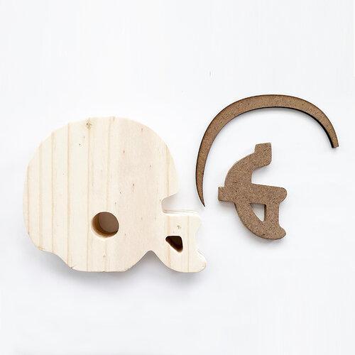 Foundations Decor - Interchangeable O for Welcome Wood Blocks - Football Helmet