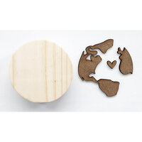 Foundations Decor - Interchangeable O for Welcome Wood Blocks - Globe