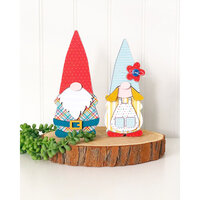 Foundations Decor - Wood Crafts - Gnome Couple - Olive and Odi