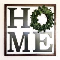 Foundations Decor - 24 x 24 - Home Board with Wreath