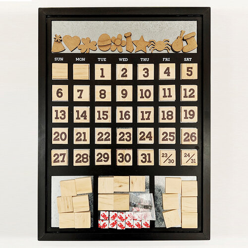Foundations Decor -14 x 18 Magnetic Calendar - Black Frame