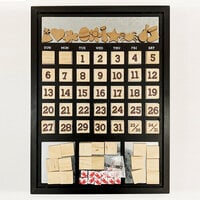Foundations Decor -14 x 18 Magnetic Calendar - Black Frame