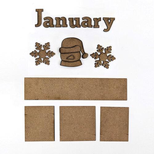 Foundations Decor - Monthly Kit for Magnetic Calendar Frame - January