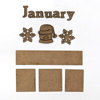 Foundations Decor - Monthly Kit for Magnetic Calendar Frame - January