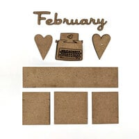 Foundations Decor - Monthly Kit for Magnetic Calendar Frame - February
