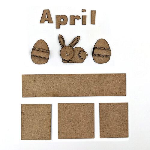 Foundations Decor - Monthly Kit for Magnetic Calendar Frame - April