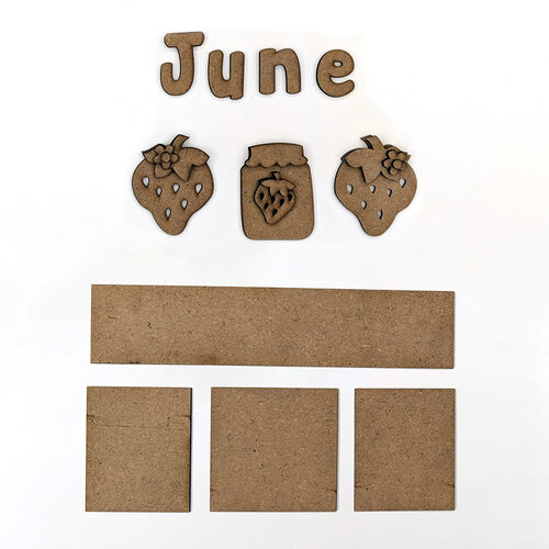 Foundations Decor - Monthly Kit for Magnetic Calendar Frame - June