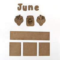 Foundations Decor - Monthly Kit for Magnetic Calendar Frame - June