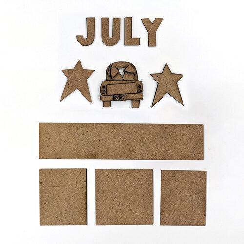 Foundations Decor - Monthly Kit for Magnetic Calendar Frame - July