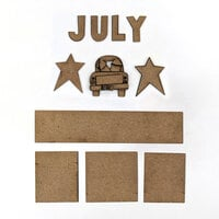 Foundations Decor - Monthly Kit for Magnetic Calendar Frame - July