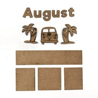 Foundations Decor - Monthly Kit for Magnetic Calendar Frame - August
