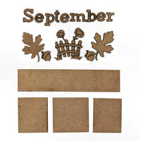 Foundations Decor - Monthly Kit for Magnetic Calendar Frame - September