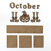 Foundations Decor - Monthly Kit for Magnetic Calendar Frame - October