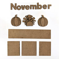 Foundations Decor - Monthly Kit for Magnetic Calendar Frame - November