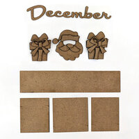 Foundations Decor - Monthly Kit for Magnetic Calendar Frame - December