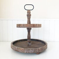 Foundations Decor - Tiered Tray - Antique Finish - Round
