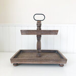 Foundations Decor - Tiered Tray - Antique Finish - Rectangle