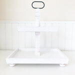 Foundations Decor - Tiered Tray - Distressed White Finish - Rectangle