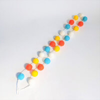 Foundations Decor - Accessories - Felt Balls Garland - Summer