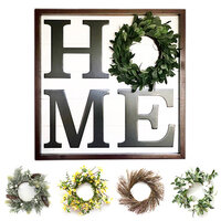 Foundations Decor - 24 x 24 - Home Board with Seasonal Wreaths - Complete Kit