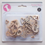 Freckled Fawn - Wood Chips - Hearts