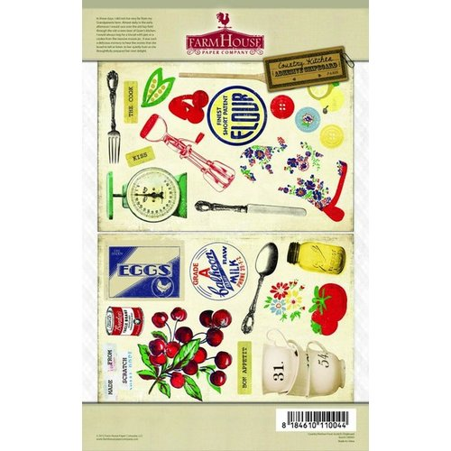 FarmHouse Paper Company - Country Kitchen Collection - Chipboard Stickers - From Scratch