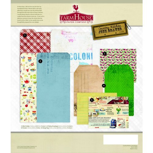 FarmHouse Paper Company - Country Kitchen Collection - Junk Drawer