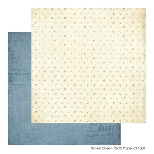FarmHouse Paper Company - Country Kitchen Collection - 12 x 12 Double Sided Paper - Bakers Dozen