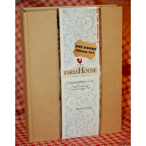 FarmHouse Paper Company - Dry Goods Collection - 5 x 7 Book Binding Album