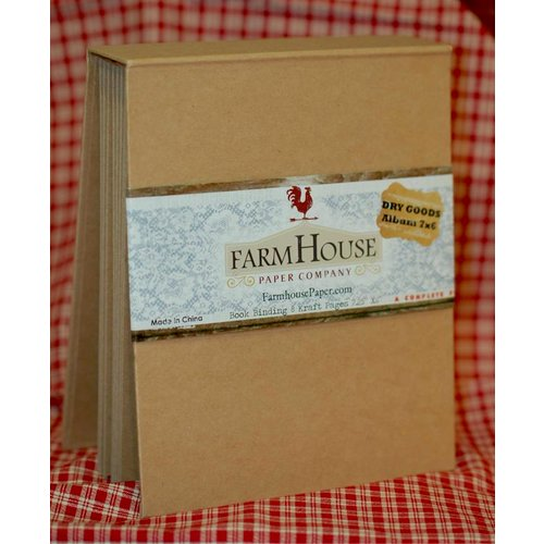 FarmHouse Paper Company - Dry Goods Collection - 7 x 6 Book Binding Album