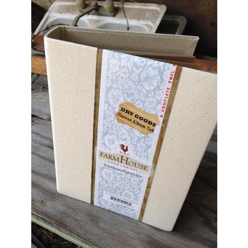 FarmHouse Paper Company - Dry Goods Collection - 7 x 9 Canvas Album