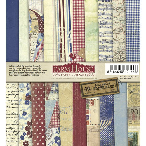 FarmHouse Paper Company - Fair Skies Collection - 6 x 6 Paper Pad